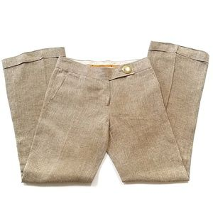 Tory Burch Wide Leg Linen Pants